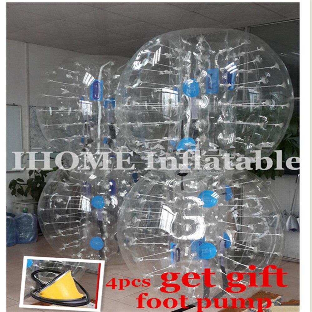 1.8m PVC Hava Bamper Top Bədən Zorb Top Baloncuk futbolu Loopy - Komanda idman növləri - Fotoqrafiya 5