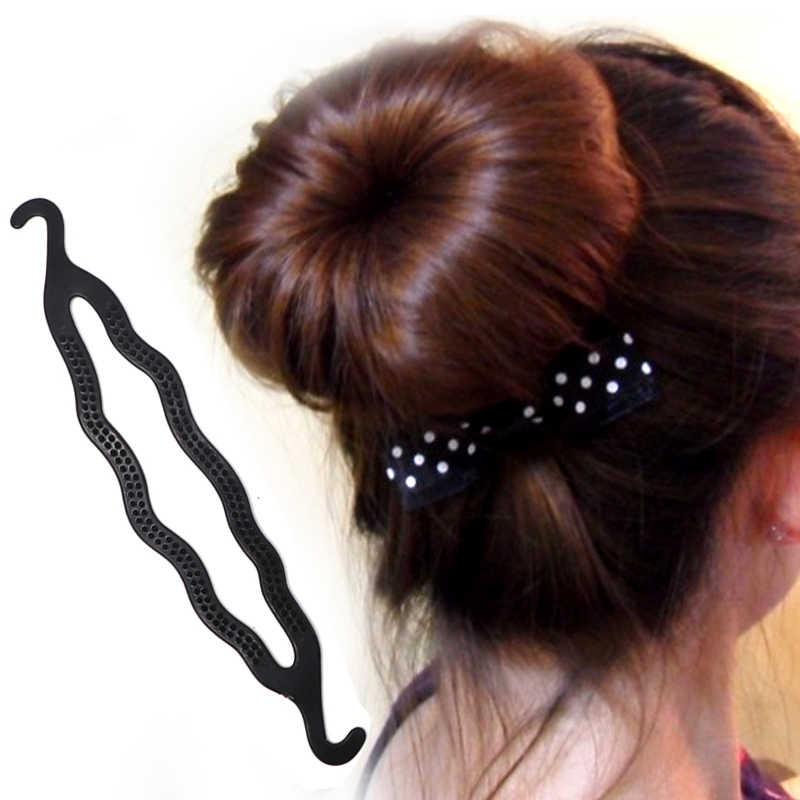 5 sztuk/zestaw kij do włosów Styling Tools Pull Hair Pins francuski Dish włosów oplatarce grzebień Donut włosów akcesoria dla dziewczyna fryzjerskie