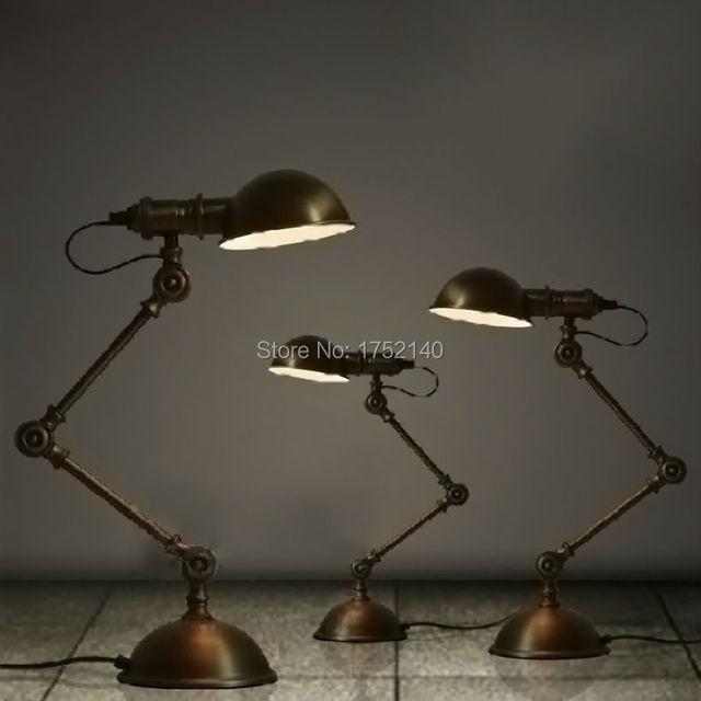 Bronze Color Iron Reading Lamp Vintage Loft Desk Copy Chiang Kai Shek