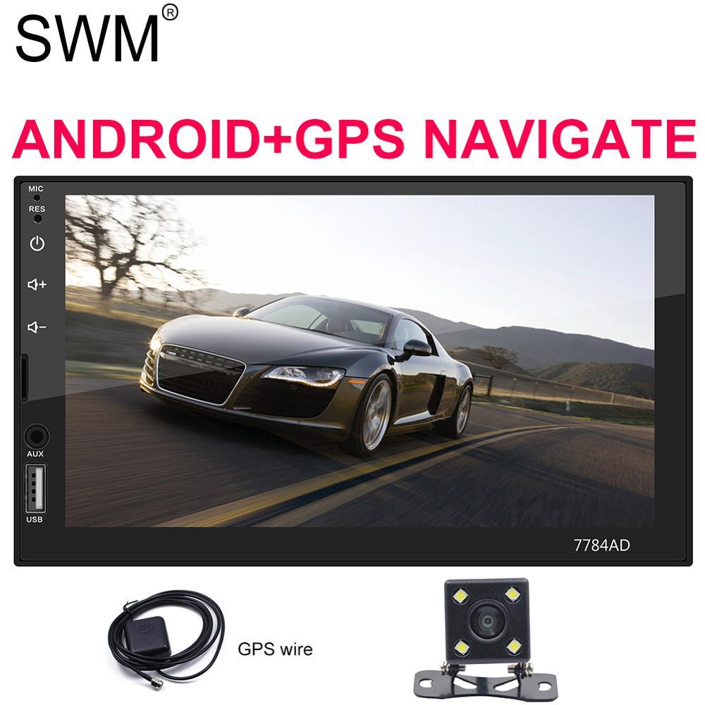 "Car Radio Audio MP5 Player AUX GPS Navigation RDS Mirrorlink 7/"" 2 Din Bluetooth"