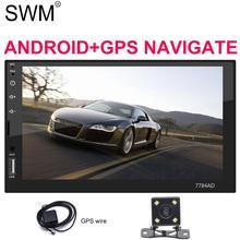 SWM Radio 2 Din Android GPS Navigation Cassette Player 7 Mirrorlink Bluetooth Steering Wheel Control Car Audio Stereo Autoradio цена