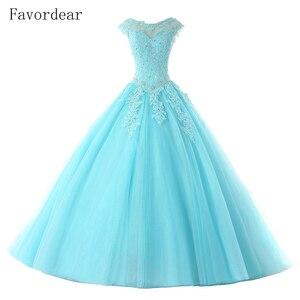 Image 2 - Favordear avordear nowa kolekcja Quinceanera 15 lat Vestidos De 15 Anos na szyję Blush Quinceanera sukienki