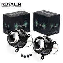 ROYALIN 2,5 дюйма туман свет объектив проектора H11 лампы Привет/Lo Луч би-ксеноновая разрядная лампа высокой интенсивности для автомобиля-укладки Универсальный модернизации Туман лампа Водонепроницаемый