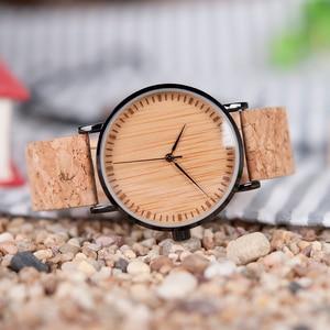 BOBO BIRD/деревянные часы с циферблатом и пробковым ремешком, деревянные часы для мужчин и женщин, relogio feminino, C-E19, Прямая поставка