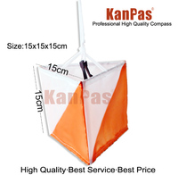Kanpas 30 개/몫, 중간 크기 orienteering 마커 깃발/OM-01 15*15 cm