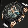 2017 Nueva Marca de Lujo Del Análogo Led Digital Relojes de Los Hombres Reloj de Cuarzo de Los Hombres Militar Reloj de Pulsera Deportivo Relojes Masculino Del Relogio