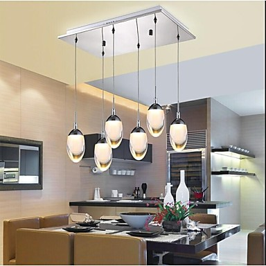 New Design Acrylic Modern LED Pendant Lighting Lamp With 6 Lights For Dining Room, Lustres E Pendentes De Sala new design acrylic modern led pendant lighting lamp with 6 lights for dining room foyer lustres e pendentes de sala ac