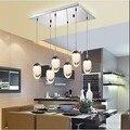 Novo Design Acrílico Moderno LEVOU Pingente Lâmpada de Iluminação Com 6 Luzes Para Sala De Jantar, Lustres E Pendentes De Sala