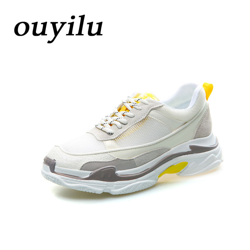2018 ouyilu Women Running Shoes Sport Shoes Ladies sneakers shoes Summer Breathable Mesh Outdoor sports shoes Breathable Red mulinsen men s running shoes blue black red gray outdoor running sport shoes breathable non slip sport sneakers 270233
