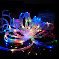 Одежда высшего качества 7 м 50 LED Солнечная веревка шнура СИД полосы фея света Открытый Garden Party Декор Водонепроницаемый
