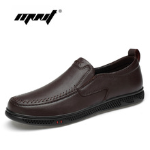 Купить с кэшбэком Genuine Leather Men Shoes Comfortable Casual Shoes Men  Footwear Chaussures Flats Slip On Driving Shoes Zapatos Hombre