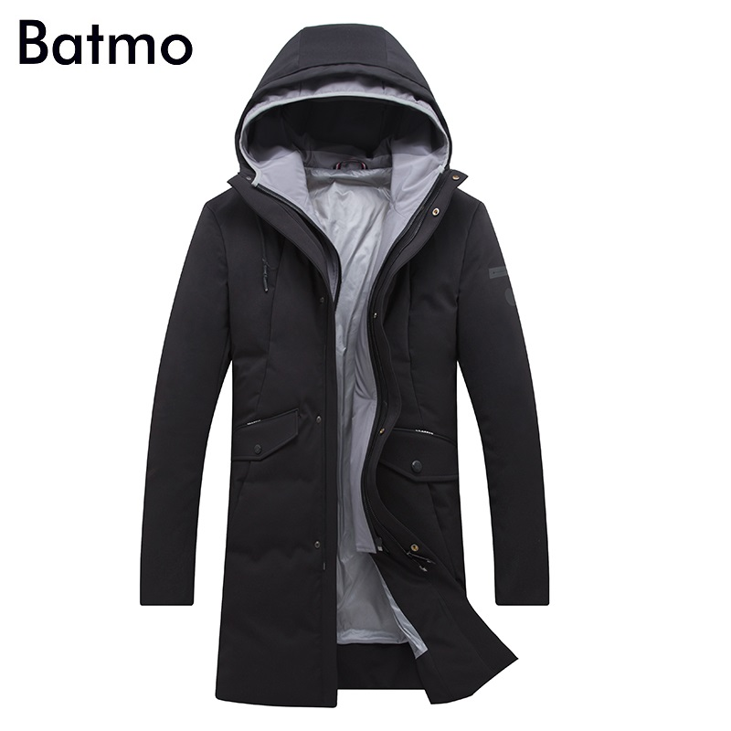 Batmo 2017 new arrival winter high quality white duck down hooded jacket men,winter mens coat ,plus-size M,L,XL,XXL,XXXL 8056