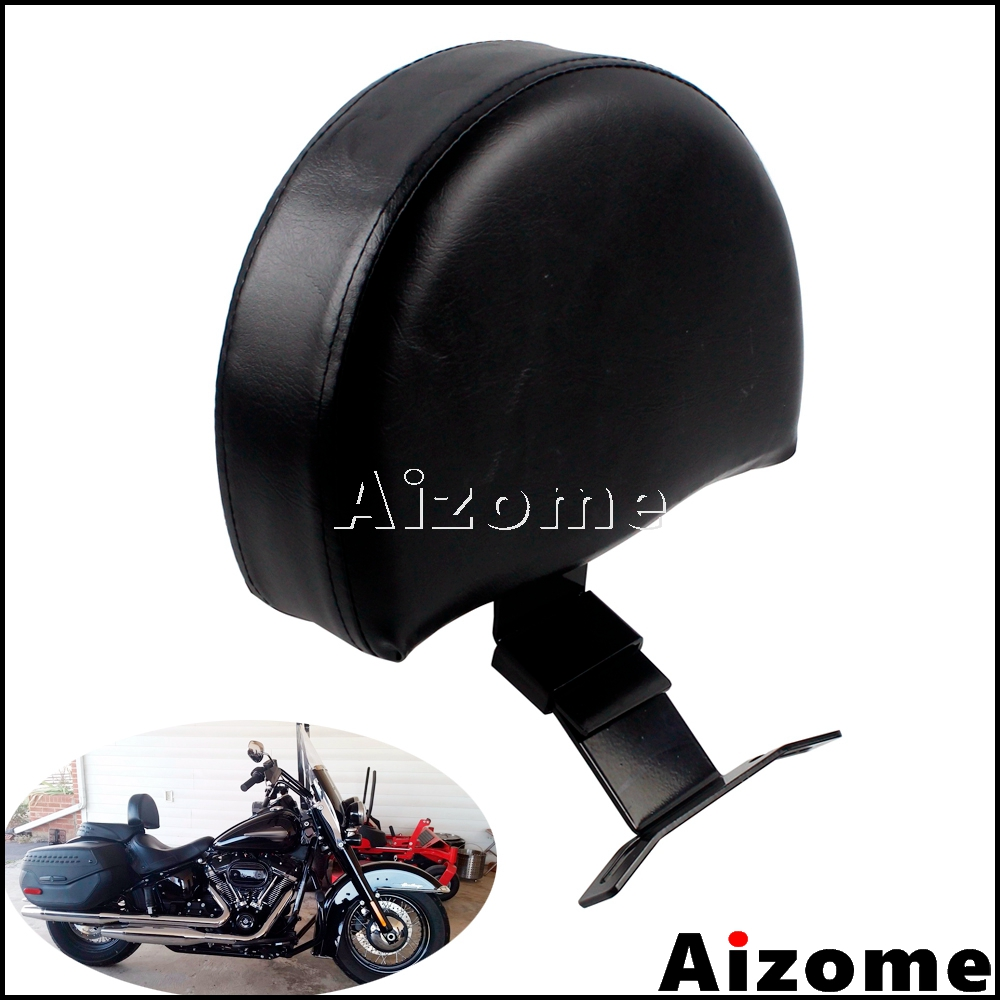 Motorcycle Black EZ ON OFF Driver Backrest Pad For Harley Softail Heritage Classic 2018 UP Models