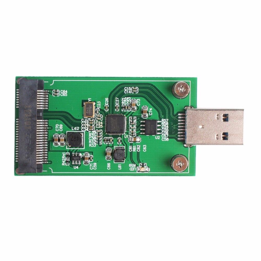 Mini USB 3.0 to PCIE mSATA External SSD PCBA Conveter Adapter Card #265491 mini pcie msata 3x5 ssd to 1 8 micro sata adapter card usb micro sata cable 7 9pin 13pin usb to ssd usb to mini pcie