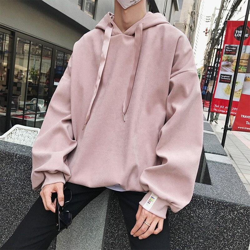 Autumn Winter New Hoodies Men Korean Version Techwear Fashion Couple Hooded Sweatshirt Male Loose Pullover Hip Hop Streetwear