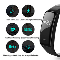New SmartWith Heart Rate Blood Pressure IP67 Waterproof Health Sleep Monitor For Android IOS