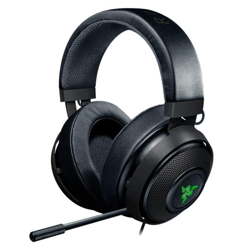 Casques de jeu Razer Kraken 2m filaire noir/blanc 32Ω 123dB casque de jeux sur l'oreille casque avec Microphone pour jeux LOL PUBG