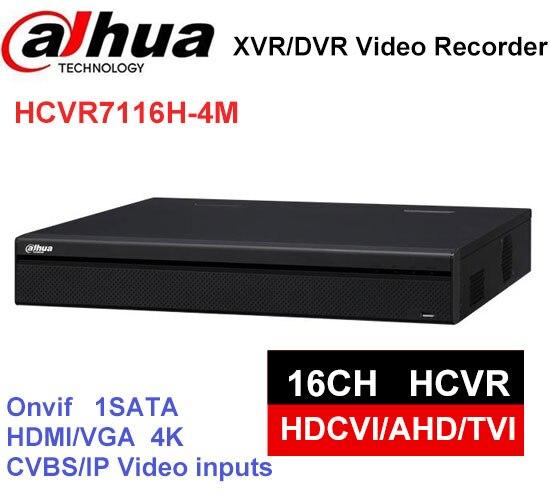 Dahua 4K HCVR 16CH HCVR7116H-4M Support HDCVI/CVBS video inputs Digital Video Recorder