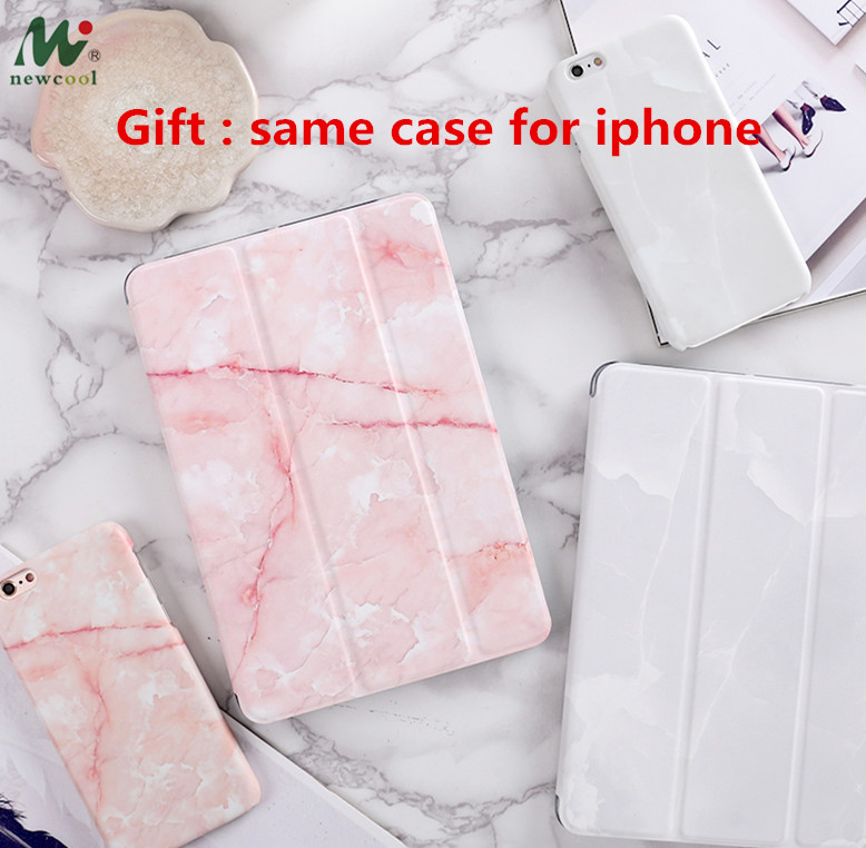 "Marble Flip Cover per iPad Pro 9.7 ""11 12.9 10.5 Air Air2 Mini 1 2 3 4 Custodia protettiva Shell per tablet per iPad 9.7 2017 2018"