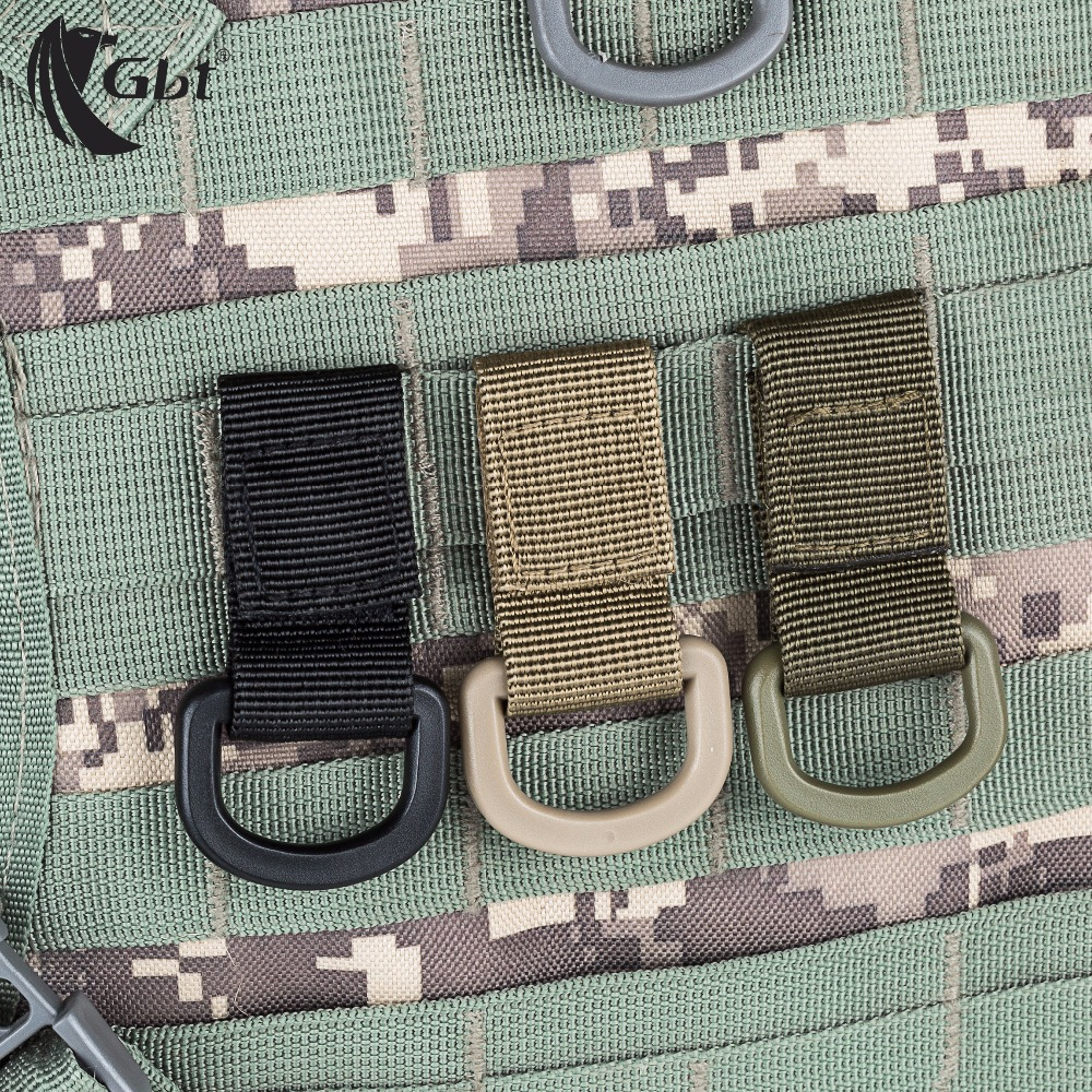 Bushcraft Outdoor Tactical Nylon Webbing Hang Buckle Hook MOLLE System Hanging Backpack Accessories Camping EDC Equipment