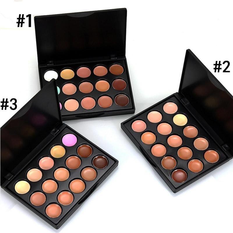 15 Colors Face Concealer Palette Cream Contour Palette Maquillaje Profesional Corretivo Maquiagem Longlasting Concealer