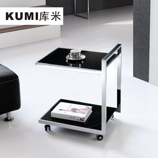 Library Meters KUMI Corner A Few Small Coffee Table Sofa Side A Few - Black corner end table