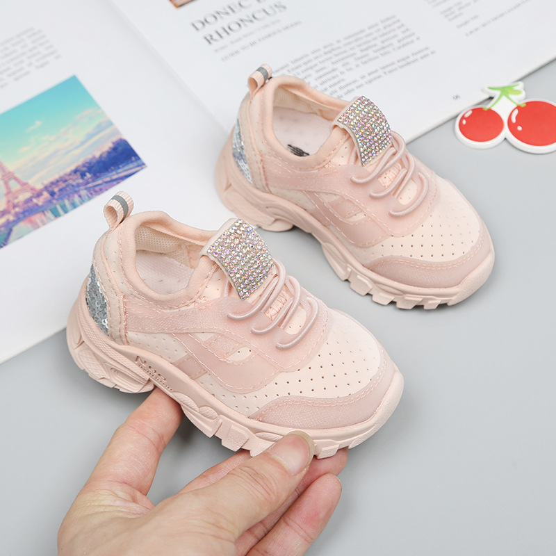 MXHY Spring And Autumn Season 1-3 Year Old Male Baby Shoes Breathable Net Surface Casual Shoes Soft Shoes Girls Baby Sneakers