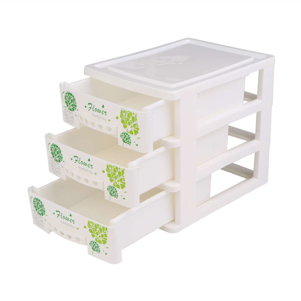 Cosmetic Table Us 12 9 Off Multi Function Cute Plastic Dressing Table Cosmetic Organizer Case Holder Table Desktop Storage Basket Box With Drawer For Home In
