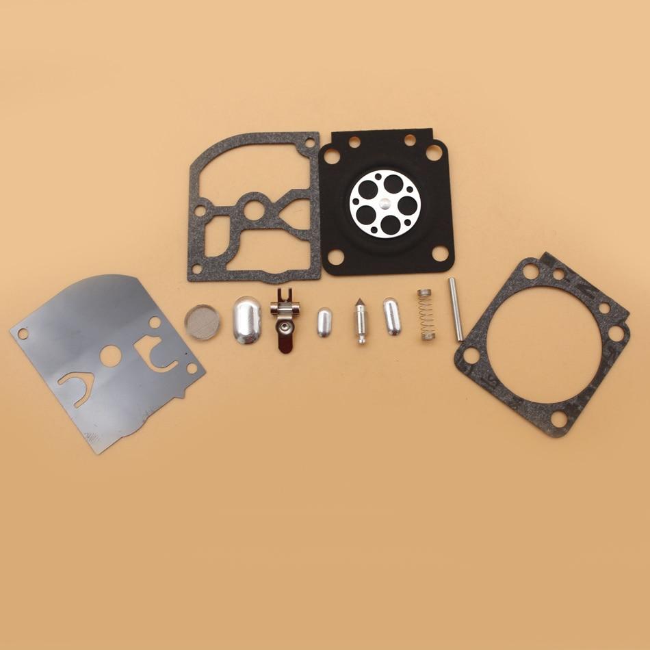 CARBURETOR REPAIR KIT FOR STIHL FS55 FS120 FS200 FS250 FS300 FS350 TRIMMER ZAMA CARBURETOR rb-89 3set brush cutter carburetor gasket kit and primer bulb needle 40 5 44f 5 34f 36f 139f gx35 grass trimmer carburetor repair kit