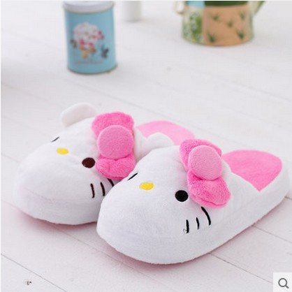9c560ea93 Free Size Hello Kitty Slippers for Women/ Winter House Warm Slippers/  Indoor Home Plush