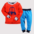 Children Boys Winter Pajama Sets  2pcs Car Cartoon Fleece Warmly Baby Boy Clothing Set Kids Casual Sleep Wear Pyjamas 2t 3t 4t 5