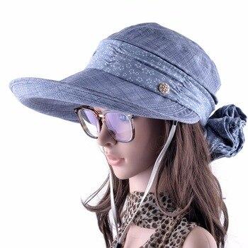 Женская кепка с защитой шеи и лица от солнца