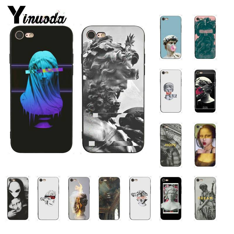 Yinuoda Newest special edition art David sculpture TPU  Black Phone Case for iPhone 8 7 6 6S 6Plus X XS MAX 5 5S SE XR 10 Cover