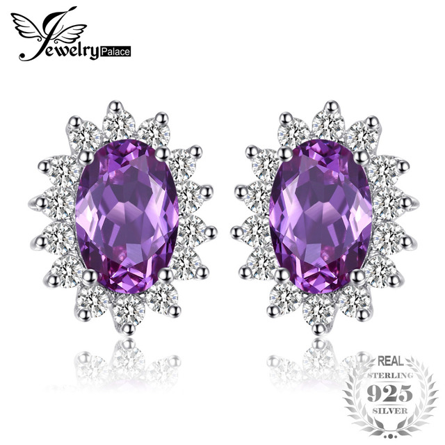 cut peora created gold princess stud earrings carats alexandrite yellow