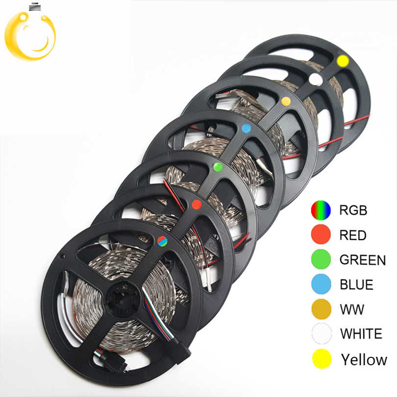 5M 300Leds Non-waterproof RGB Led Strip Light 3528 DC12V 60Leds/M Flexible Lighting String Ribbon Tape Lamp Home Decoration Lamp