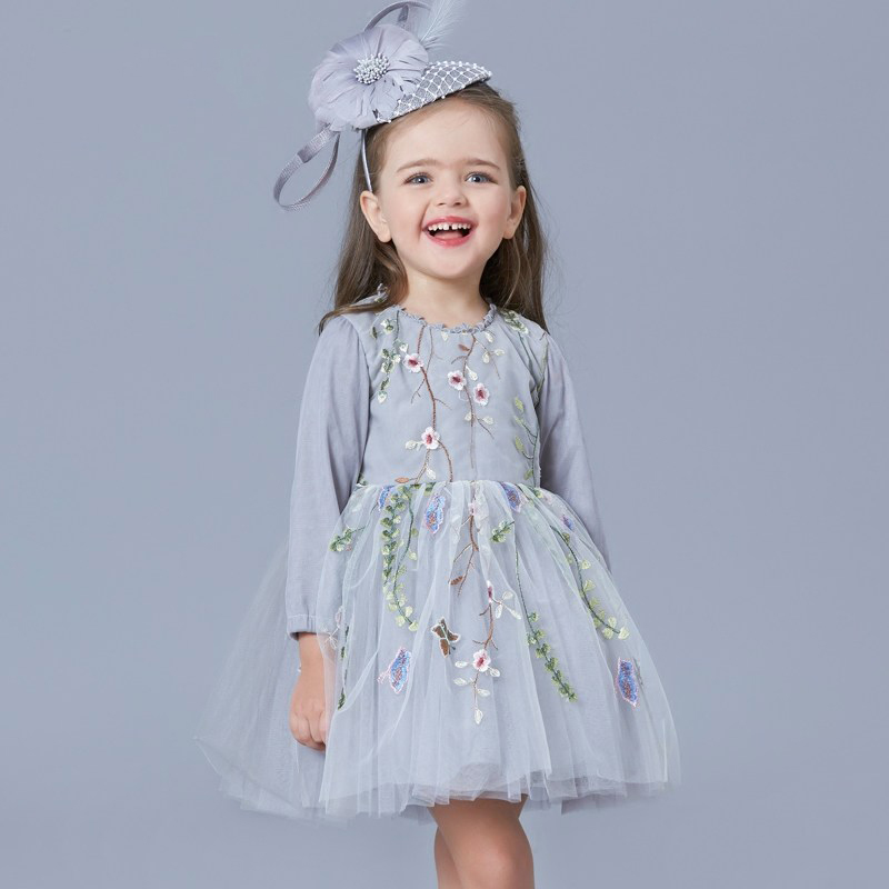 2017 Little Princess Girls Party Dress Evening Clothes for Waddler Kids Sweet Sisters Flower Clothing for Age 2345678 Years Old sweet years sy 6128l 21