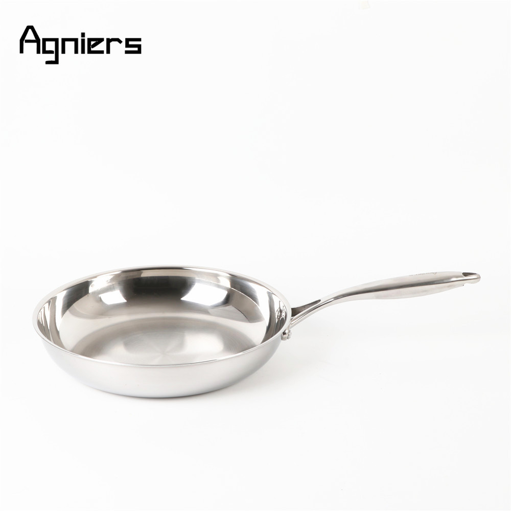 Agniers 30cm Multi Ply Clad Stainless Steel 12 Inch Frying