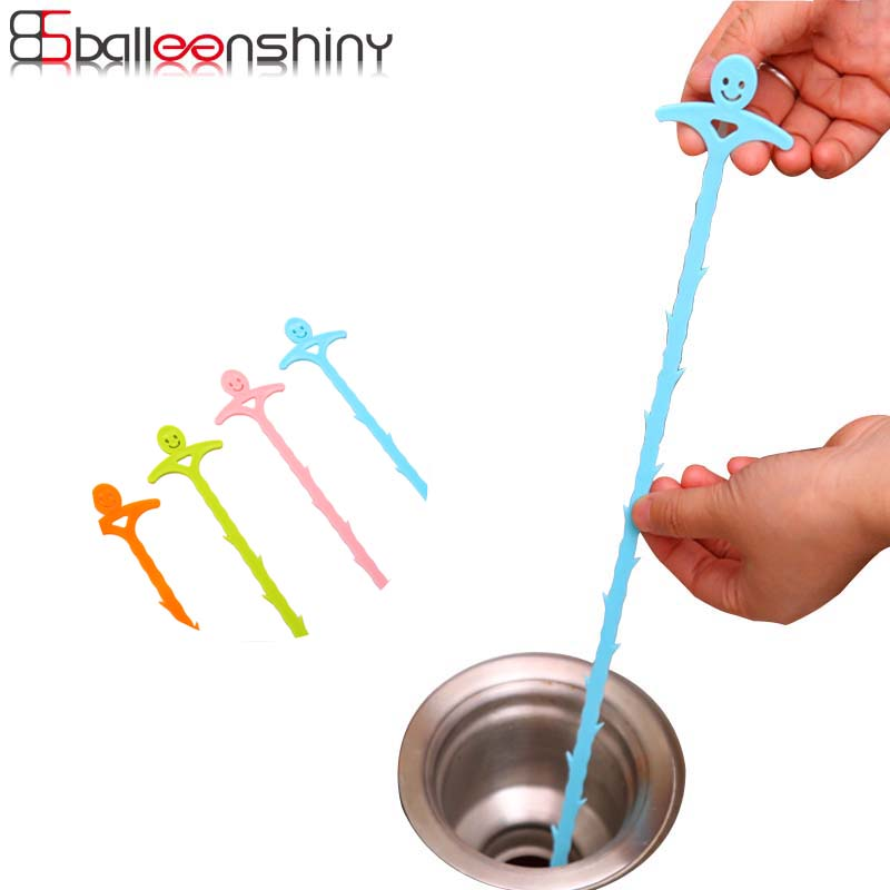 BalleenShiny 2Pcs Bendable Sink Tub Toilet Dredge Cleaning Tool Sewer Anti-Clogging Pipe Device For Bathroom Kitchen Accessories