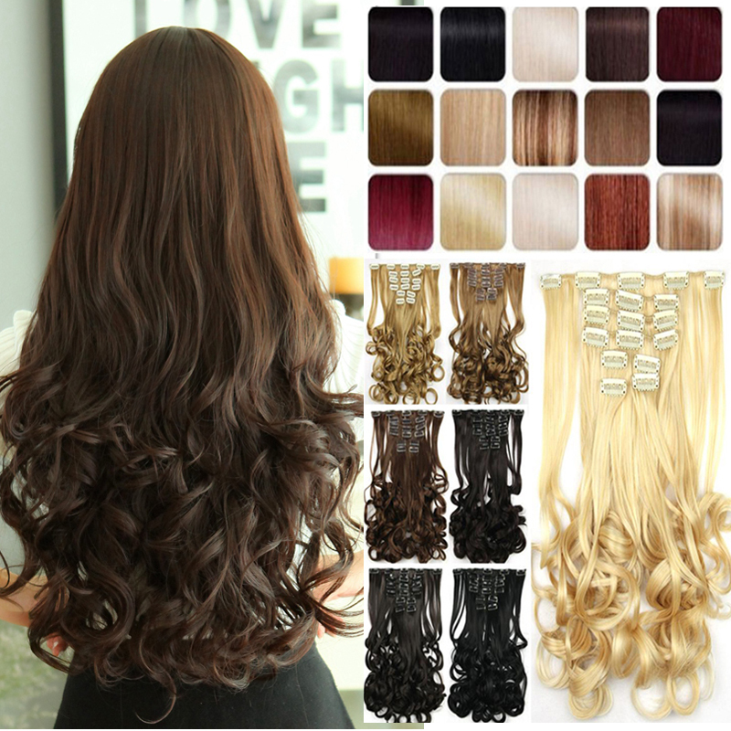 Best quality synthetic hair clip in hair extensions ash blonde best quality synthetic hair clip in hair extensions ash blonde brown 17 inches 170g long thick hair on aliexpress alibaba group pmusecretfo Images