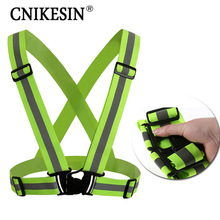 Unisex Safety High Visibility Reflection Vest Outdoor Running Cycling Vest Harness Reflective Belt Safety Jacket Outdoor Clothes