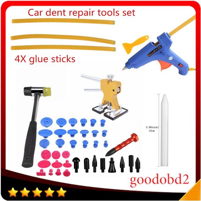 Car PDR Tools set Paintless Dent Repair Tools 28x Glue Dent Tabs Hammer Knock Down Pen Hand Tool Set for Car Tool Herramentas