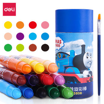 Water Soluble Rotary Color Stick Oil Painting Stick Water Soluble Crayon Drawing Crayons Colores Art Set For Kids Wax Crayons uni colored pencil crayon art drawing crayons school stationery office art supplies oil crayons rip by hand crayon 7600