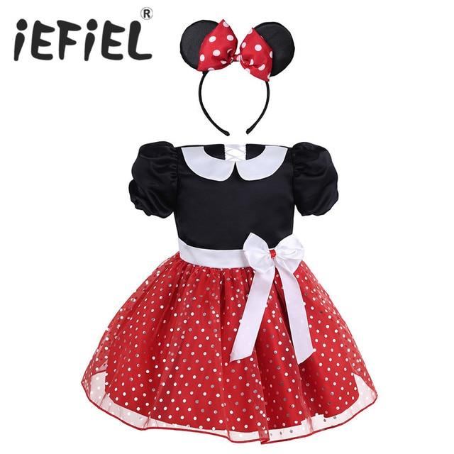 9d26456992b6 Newest Kids Baby Christmas Gift Girls Short Sleeves Polka Dots ...