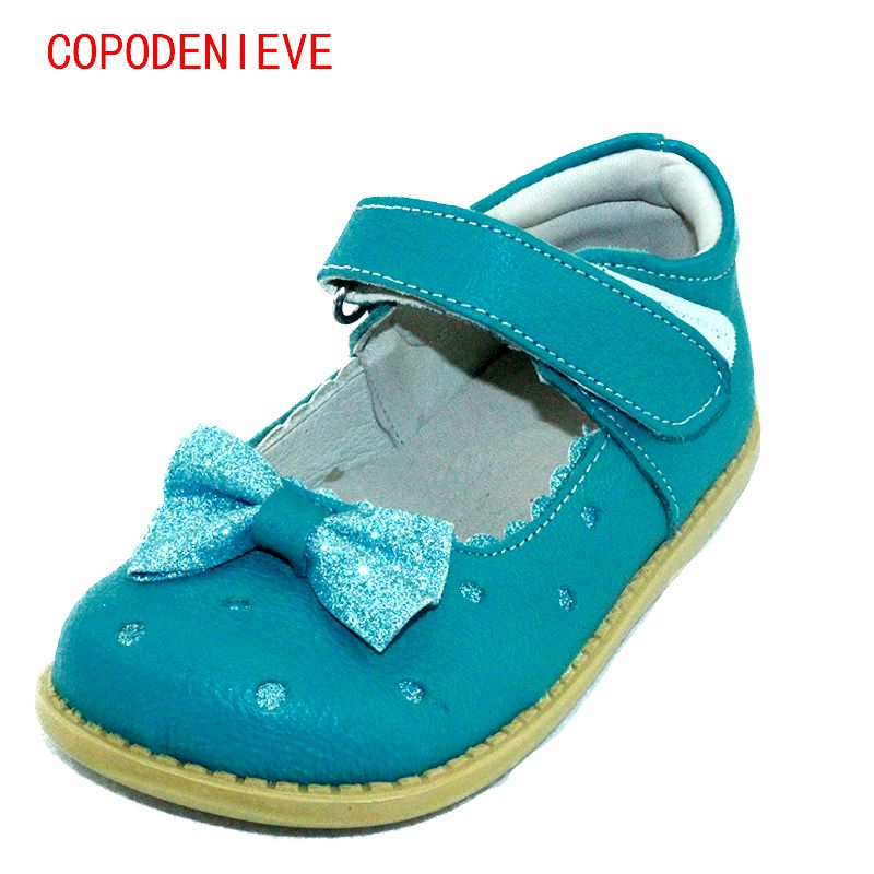 COPODENIEVE girls shoes genuine leather mary jane with flowers white rose children shoes good quality stock little kidsshoes
