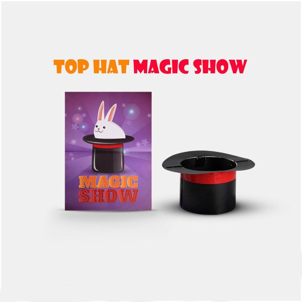 Chapeau haut-de-forme spectacle de magie tours de magie chapeau apparaissant de l'affiche Magia magicien scène Illusion accessoires accessoires Gimmick drôle