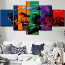 5 Pieces Justice League And Batman Wonder Woman Movie Poster Wall Art Home Decorative Living Room Or Bedroom Modern Artwork