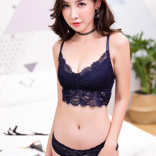 51706ea782a24 MINGMO China Sexy Lingerie Wire Free Ultra Thin No Buckle Transparent Lace  Bra Women Underwear Bra
