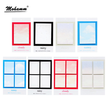 1 Pcs Cute Kawaii Korean Weather Rainy Sunny Cloudy Snowy Sticky Notes Memo Pad Post It School Office Supplies Stationery Kids