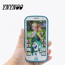 Projectable Snow Queen Toy Phone Talking Princess Anna Elsa Phone Mobile Learning & Education Baby M