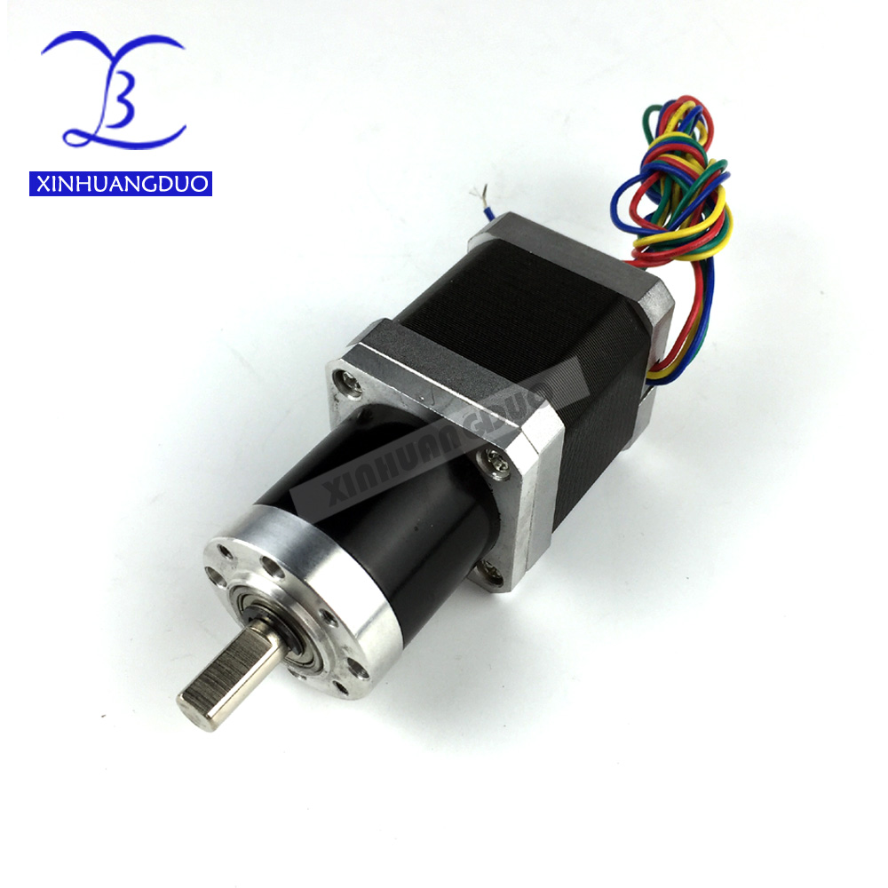 Gear ratio 100:1 48mm Planetary Gearbox stepper motor Nema 17 1.68A Geared Stepper Motor 3d printer stepper motorGear ratio 100:1 48mm Planetary Gearbox stepper motor Nema 17 1.68A Geared Stepper Motor 3d printer stepper motor